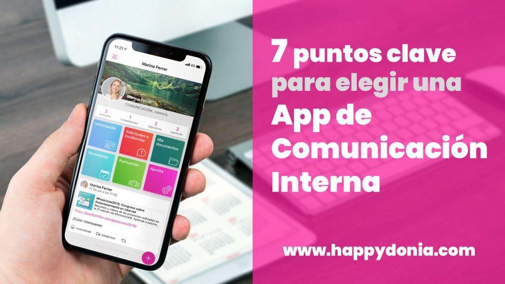 7 puntos clave para elegir una app de comunicación interna   Happÿdonia