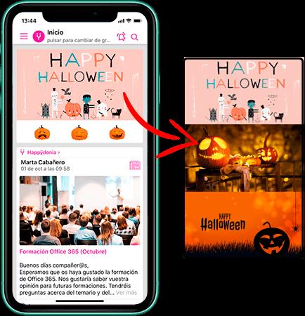 Descargar plantillas de creatividades para tu acción de comunicación interna en Halloween