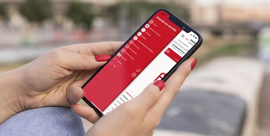App Comunicación Interna Mamás en Acción